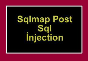 Sqlmap te Post Sql İnjection