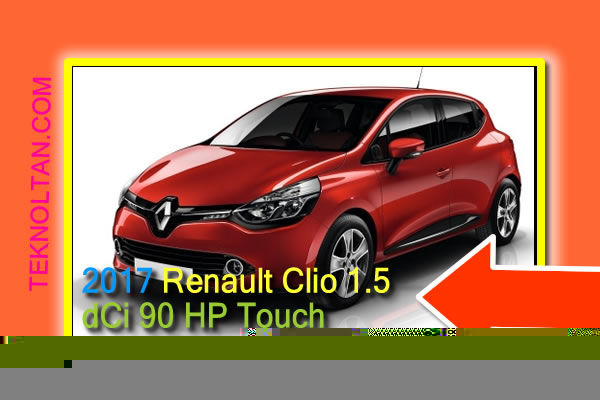 2017 Renault Clio 1.5 dCi 90 HP Touch