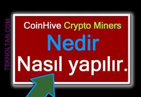CoinHive Crypto Miners nedir